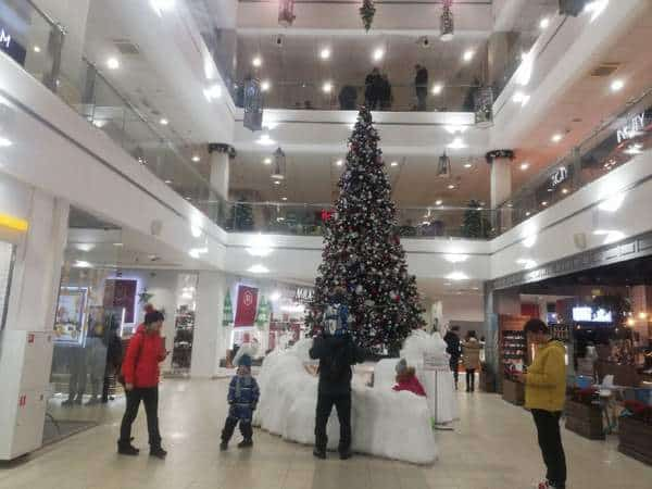Christmas tree 2020, shopping center Raspberry
