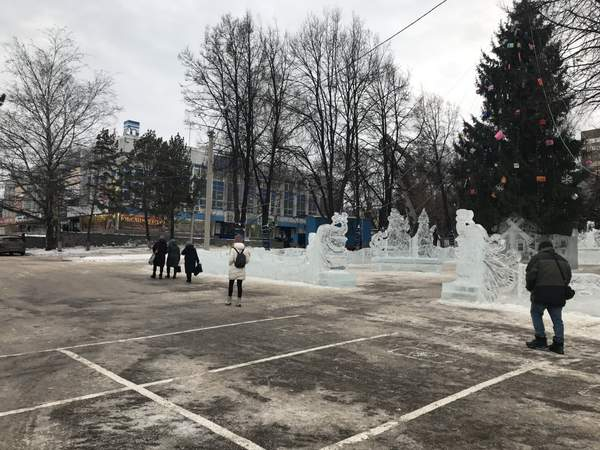 Ice town at the Ufa Department Store