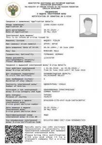 visa electrónica rusa
