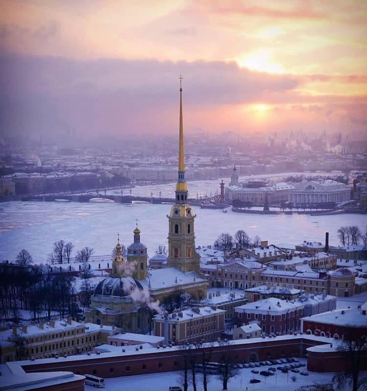 When everything freezes over in Saint Petersburg