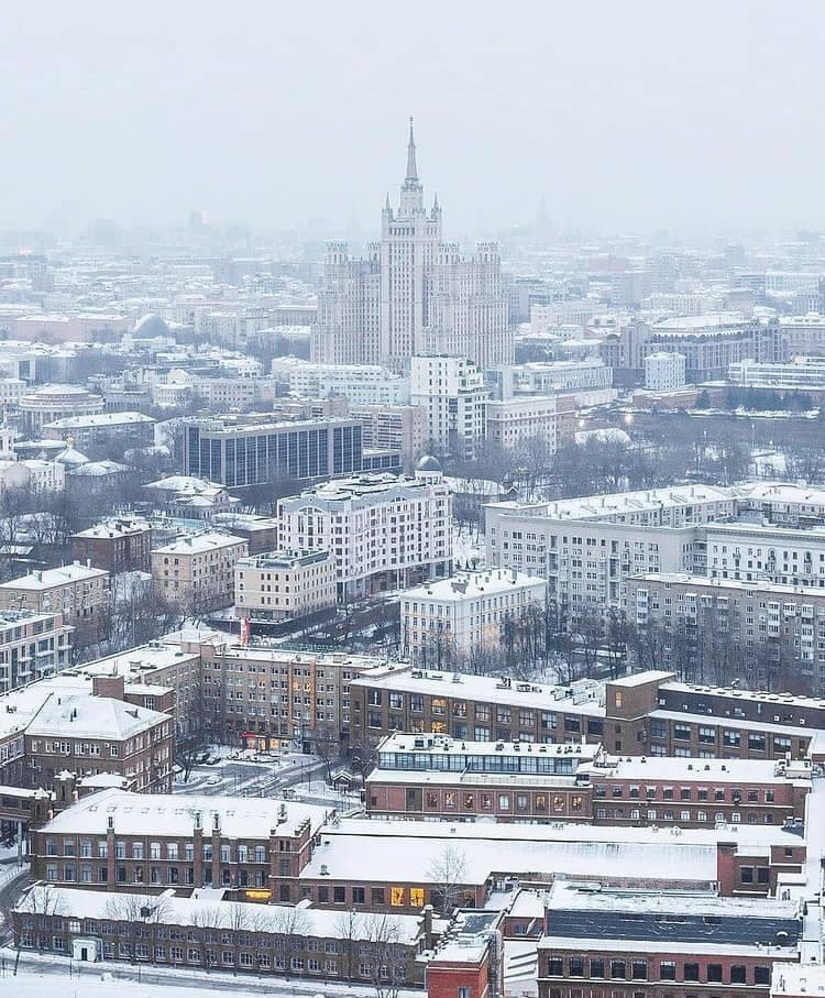 Latest pictures for this winter season For the Russian capital, Moscow