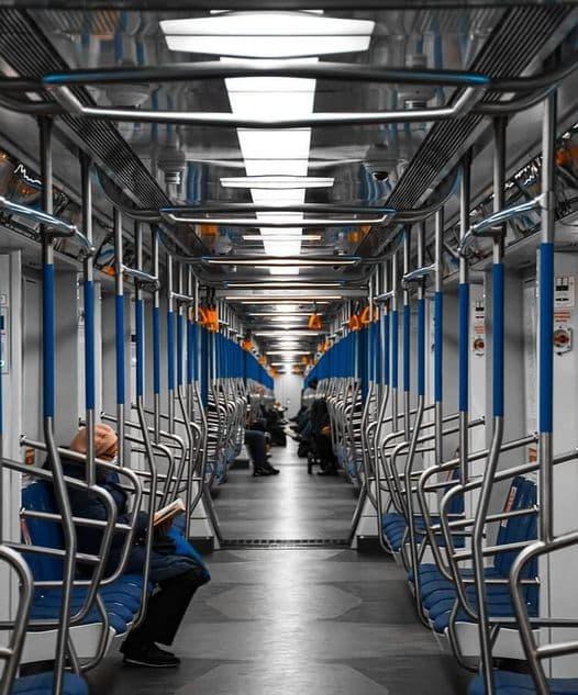 صباح الخير من مترو العاصمة الروسية موسكو ...