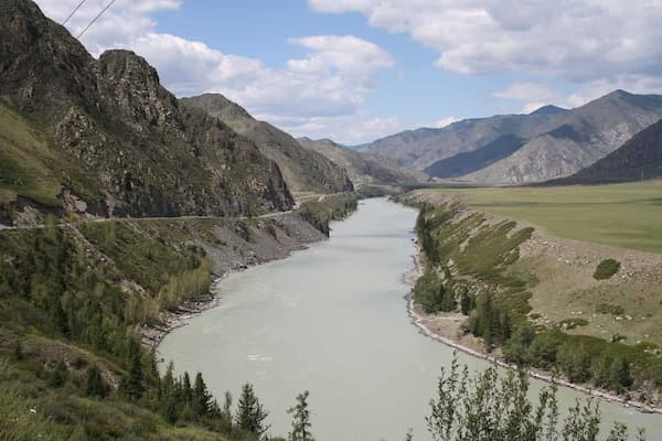 Katun river in the Altai Krai of Russia