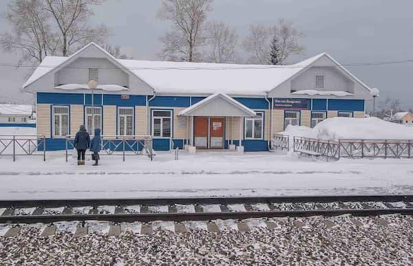 Railway station in Siberia