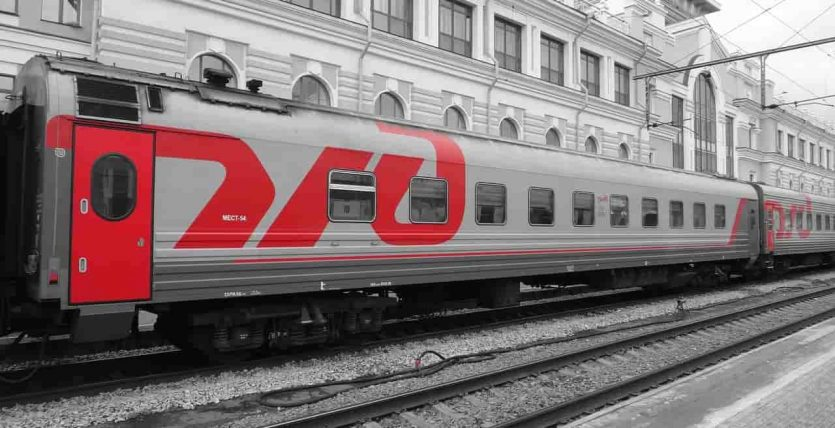 The Trans Siberian railway from Moscow to Vladivostok