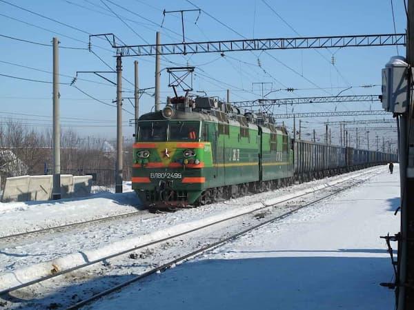 Trans–Siberian Railway Train trip in winter