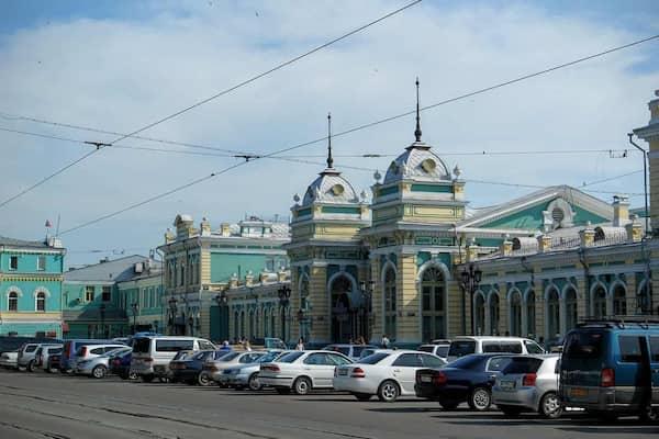Irkutsk trans-Siberian railway station