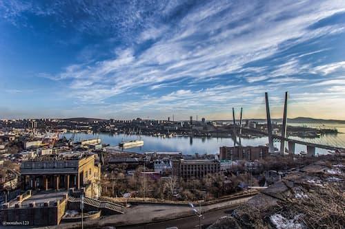 The Zolotoy Golden Bridge in Vladivostok